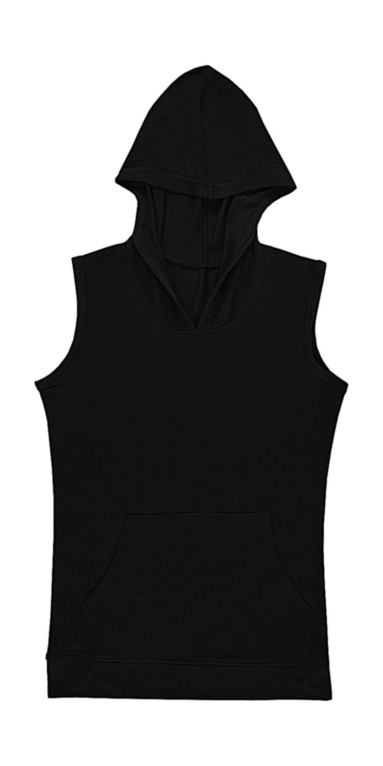 nakedshirt Cecilia Women`s Sleeveless Hooded T-Shirt
