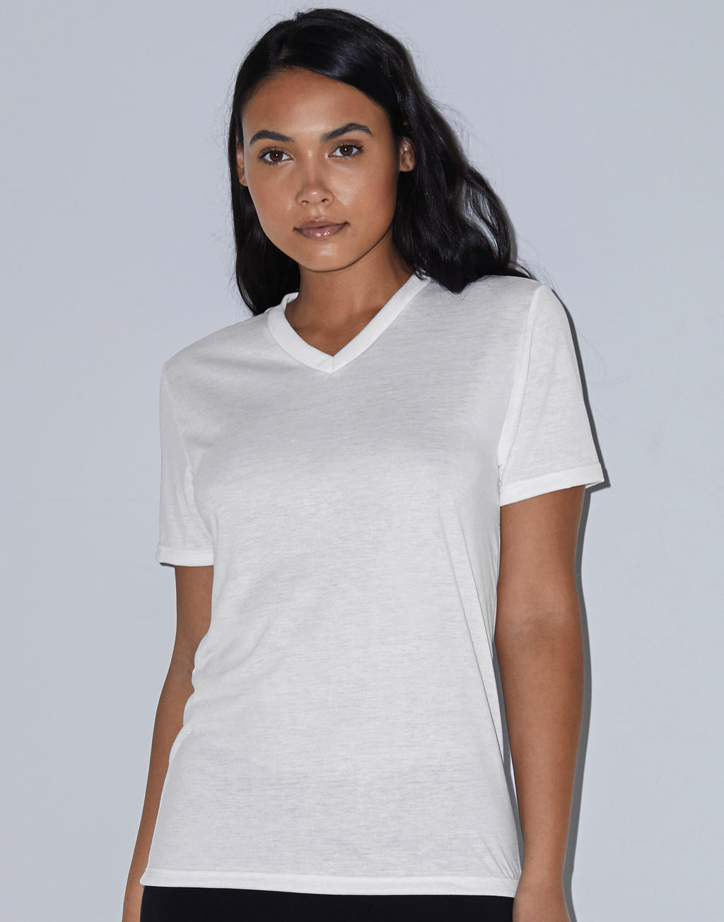 American Apparel Women`s Sublimation Classic V-Neck T-Shirt