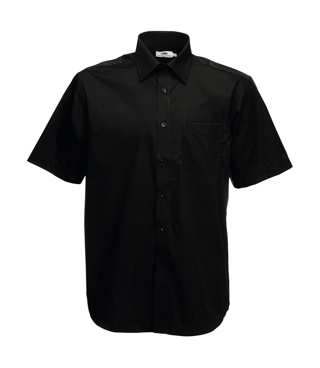 Fruit of the Loom Poplin Shirt Short Sleeve