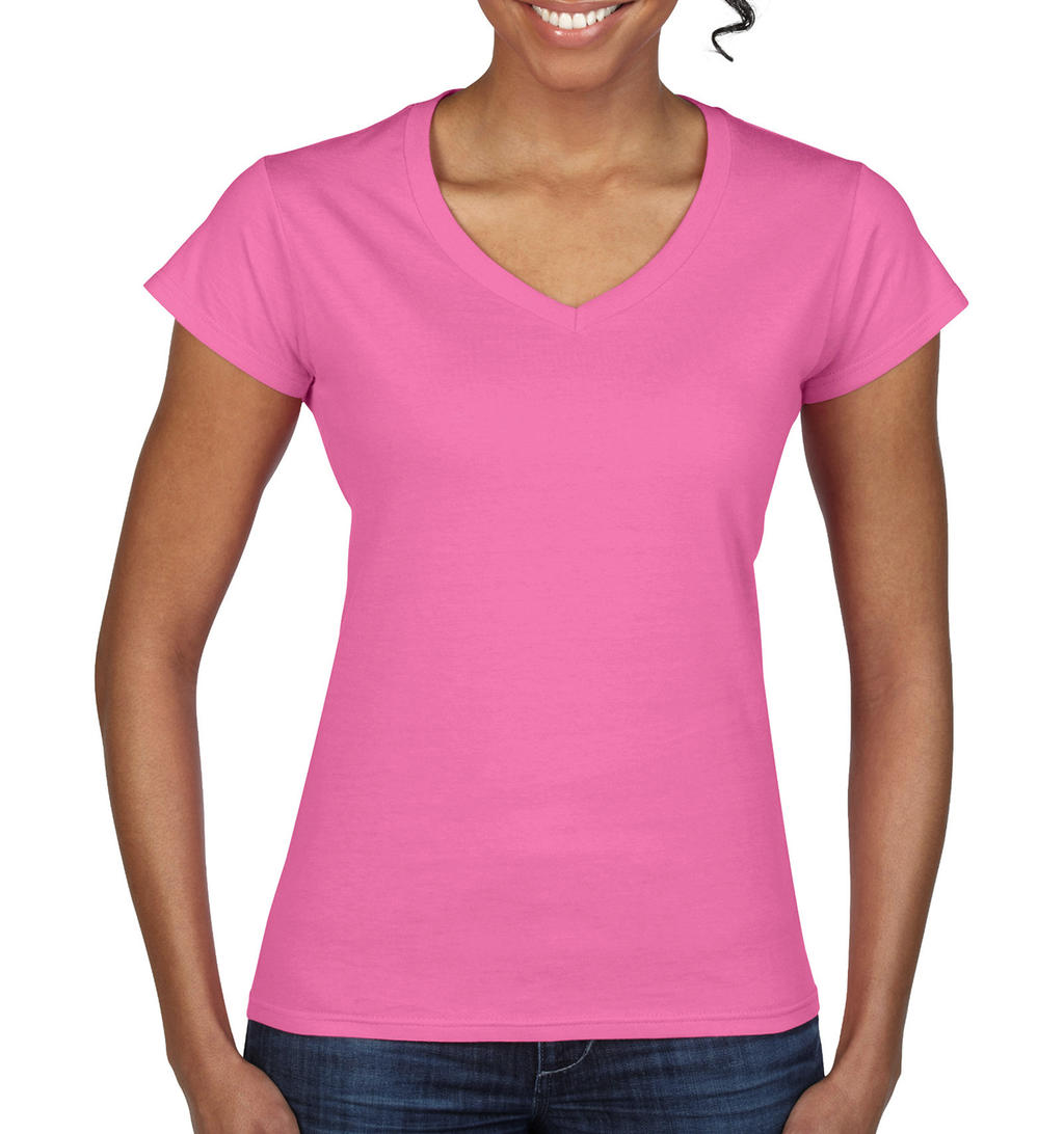 Gildan Ladies` Softstyle® V-Neck T-Shirt
