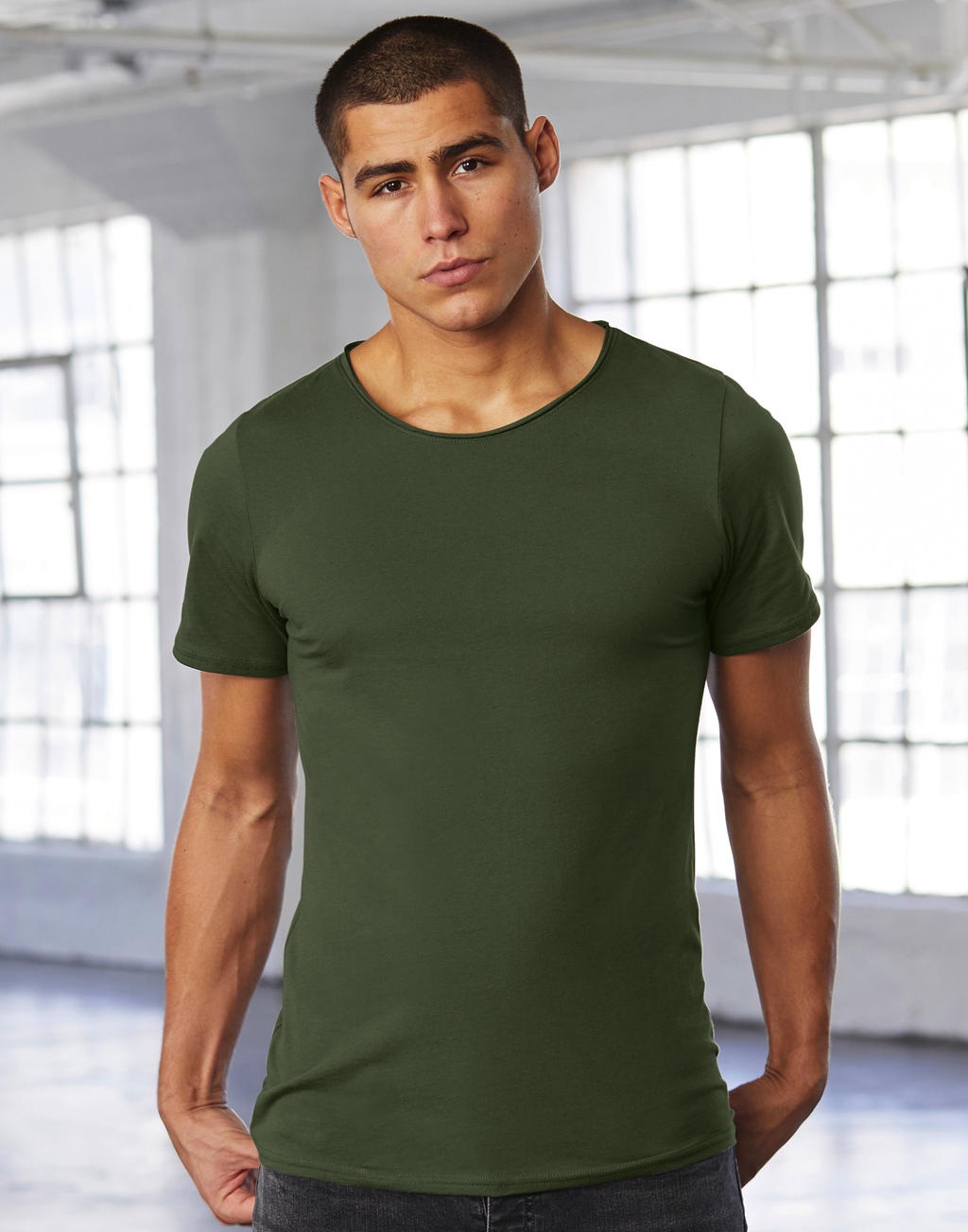 Bella Men`s Jersey Raw New Tee