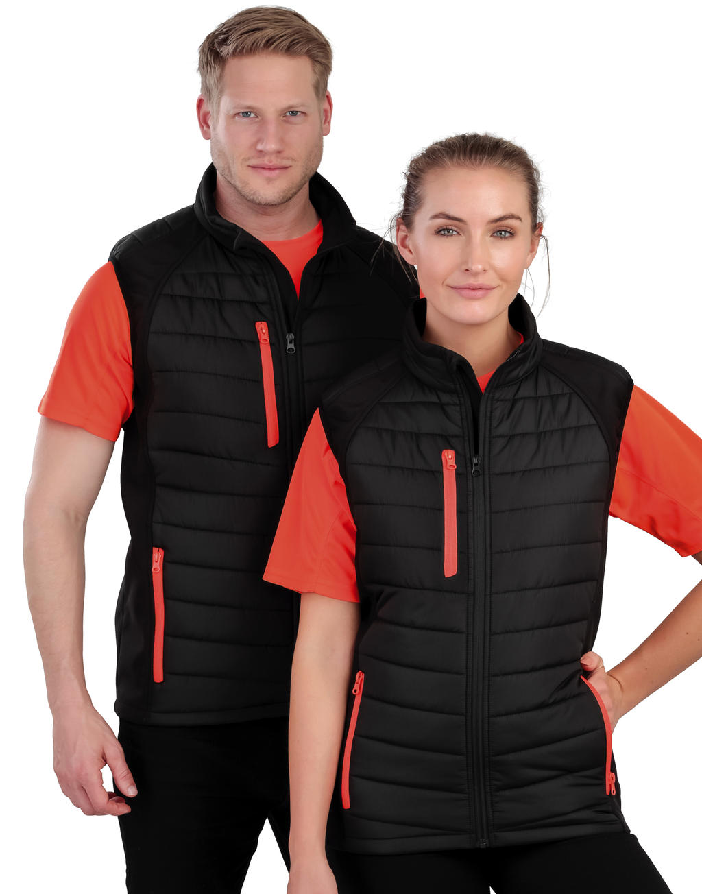 Result Black Compass Padded Softshell Gilet