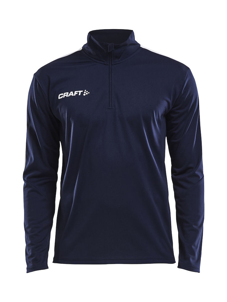CRAFT PROGRESS HALFZIP LS TEE M