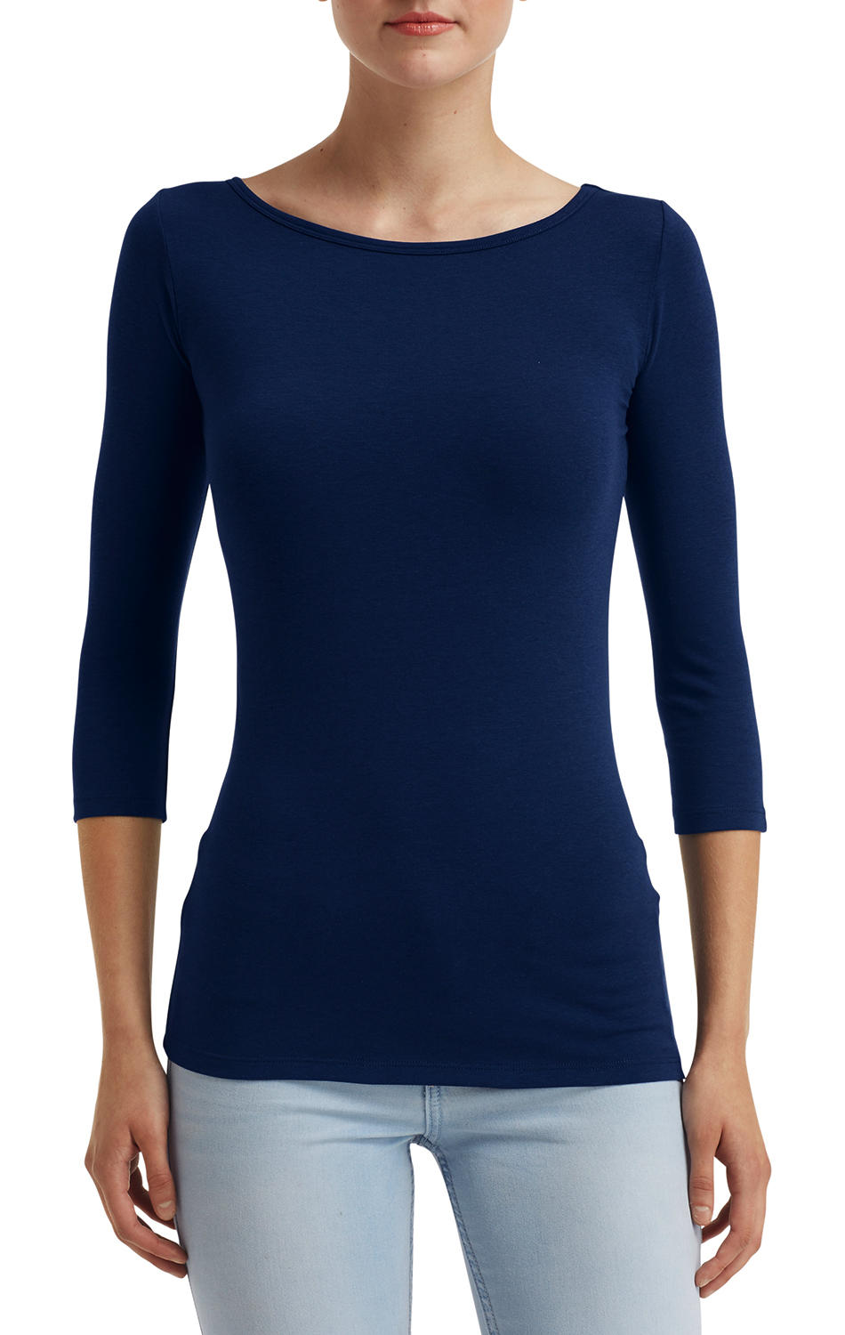 Anvil Women`s Stretch 3/4 Sleeve Tee