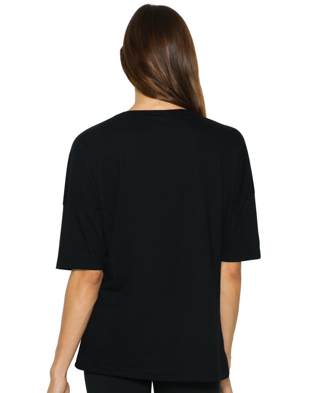 American Apparel Women`s Power Wash Deep U-Neck T-Shirt