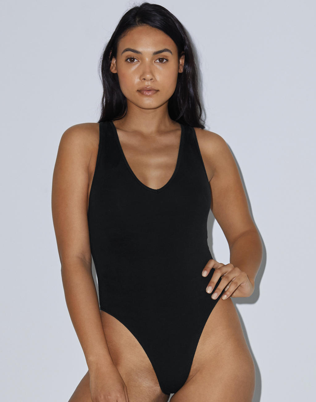American Apparel Women`s Tank Thong Bodysuit