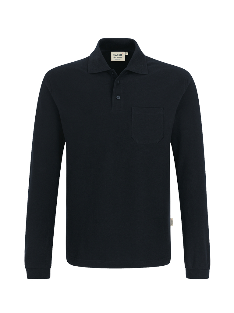 HAKRO Longsleeve-Pocket-Poloshirt Top
