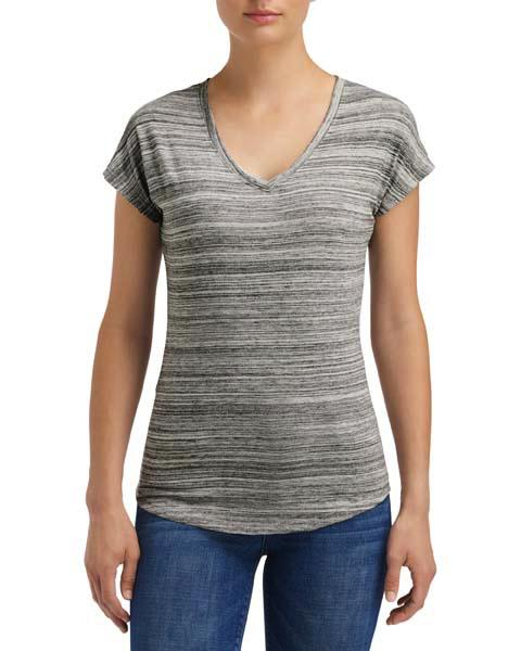 Anvil Women`s Streak V-Neck Tee