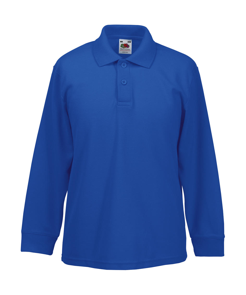 Fruit of the Loom Kids 65/35 Long Sleeve Polo