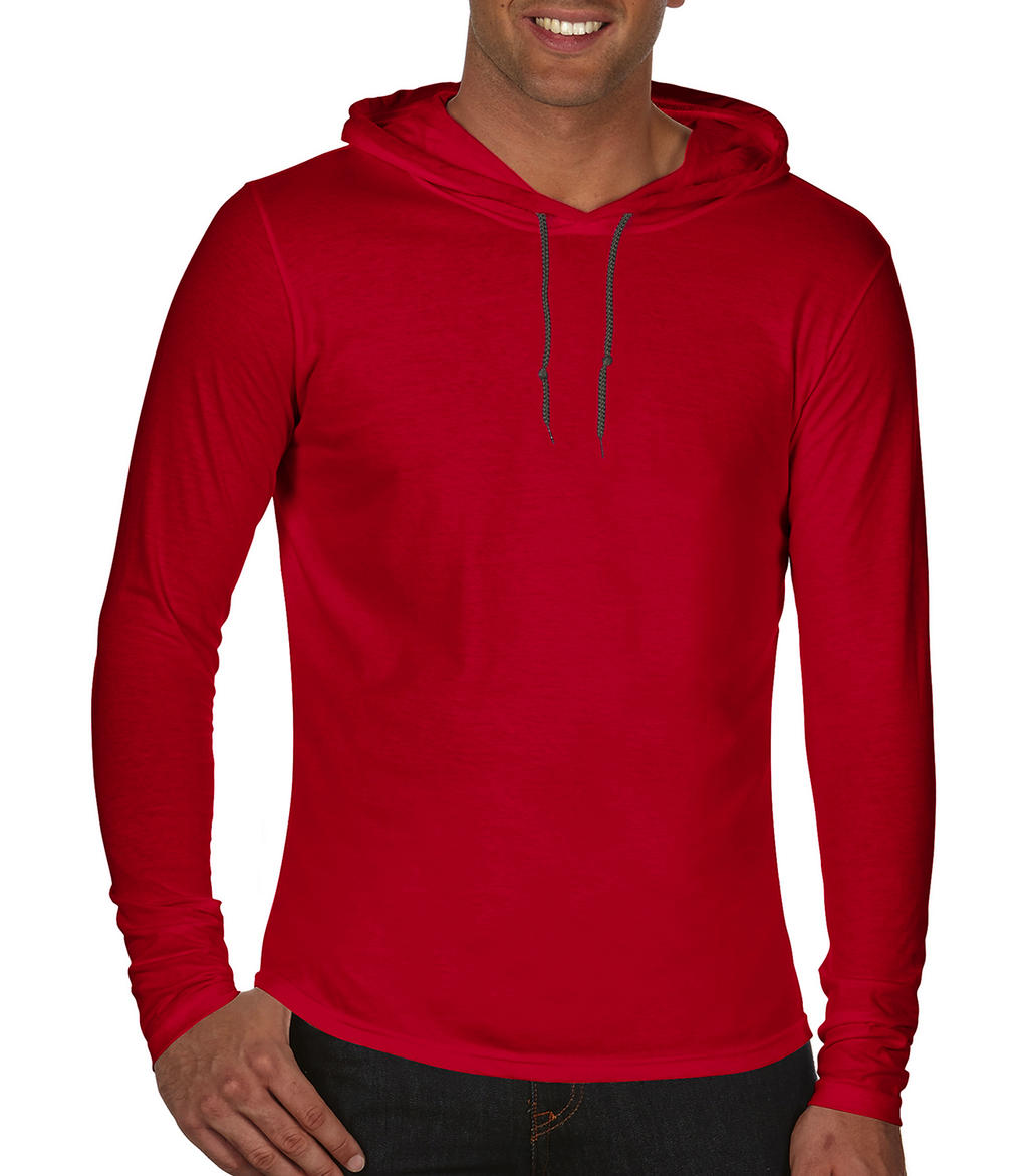 Anvil Adult Fashion Basic LS Hooded Tee
